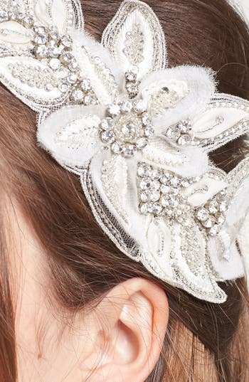 Alternate Image 2  - Untamed Petals by Amanda Judge 'Bianca' Floral Beaded Head Wrap