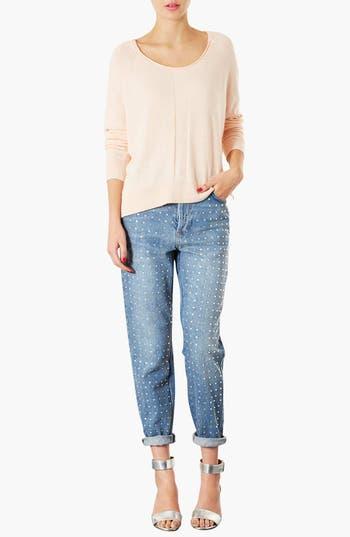 Alternate Image 3  - Topshop Sheer Pullover