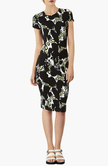 Alternate Image 1 Selected - Topshop Abstract Print Body-Con Dress