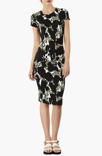 Main Image - Topshop Abstract Print Body-Con Dress