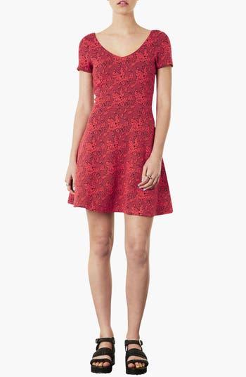 Alternate Image 1 Selected - Topshop Jacquard Tunic Dress
