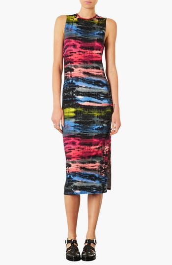 Main Image - Topshop 'Electric Ray' Midi Dress