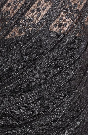 Alternate Image 3  - Calvin Klein Metallic Lace Sheath Dress (Plus Size)
