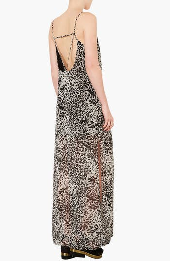 Alternate Image 2  - Topshop Leopard Print Maxi Dress