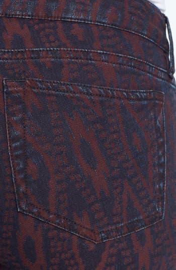 Alternate Image 4  - The Kooples Aztec Print Stretch Skinny Jeans