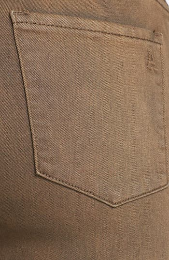 Alternate Image 3  - Articles of Society 'Mya' Overdyed Skinny Jeans (Army) (Juniors)