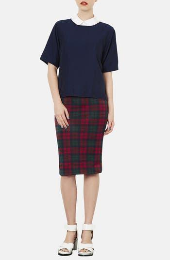 Alternate Image 4  - Topshop Check Print Tube Skirt
