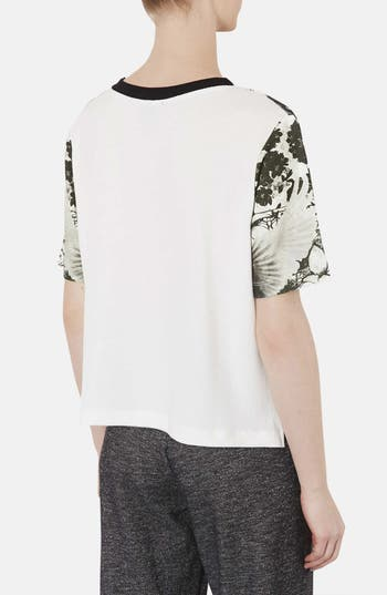 Alternate Image 2  - Topshop Dove Print Graphic Tee