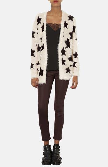 Alternate Image 4  - Topshop Star Motif Textured Cardigan