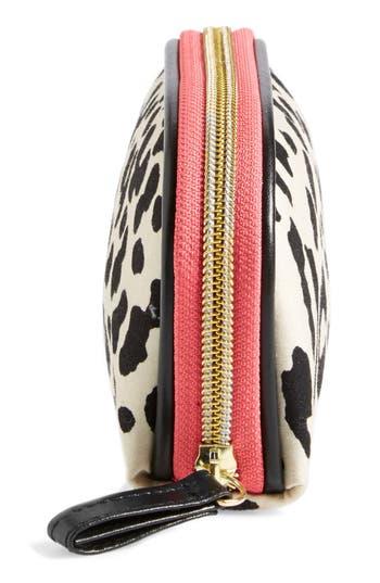 Alternate Image 2  - steph&co. 'Leopard' Nylon Mini Dome Cosmetics Case (Nordstrom Exclusive)