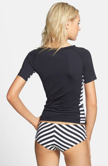 Alternate Image 2  - Volcom Stripe Panel Short Sleeve Rashguard (Juniors)