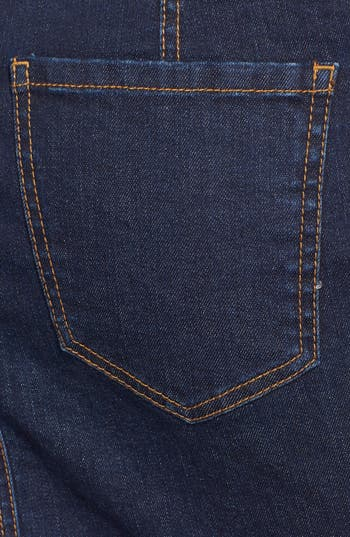 Alternate Image 3  - Fire Denim Skirt (Dark Wash) (Juniors)