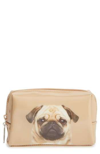 Catseye London Caramel Pug Cosmetics Case