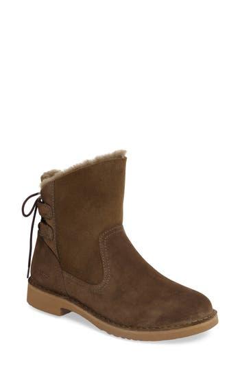 UGG? Naiyah Lace-Back Genuine Shearling Boot (Women)