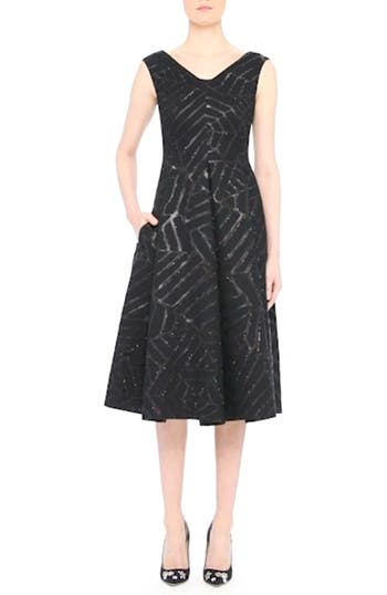 Shimmer Fil Coupé Cocktail Dress, video thumbnail