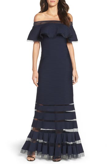 Tadashi Shoji Jersey Gown (Regular & Petite)