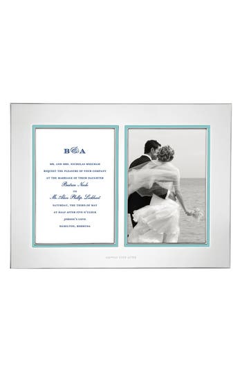 'take the cake' double invitation bridal picture frame
