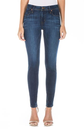 Fidelity Denim Gwen High Waist Skinny Jeans (Falcon Blue)