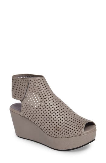Chocolat Blu Wing Perforated Platform Wedge (Women)