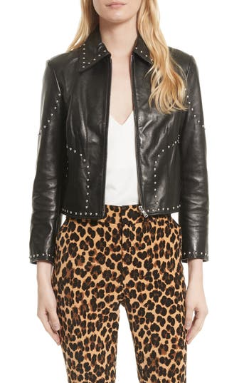 FRAME Studded Leather Jacket