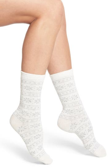 Ralph Lauren Snowflake Stripe Boot Socks (2 for $24)