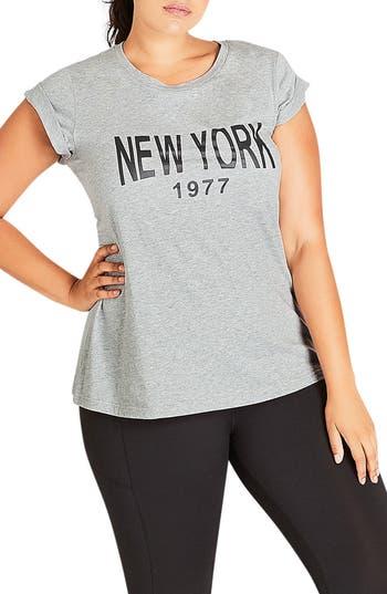 City Chic New York Tee (Plus Size)