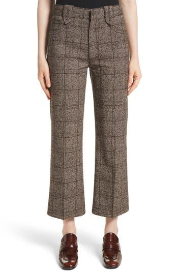 MARC JACOBS Plaid Tweed Crop Pants