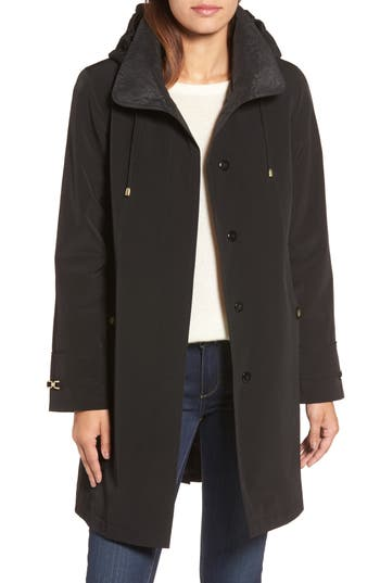 Gallery Long Silk Look Raincoat