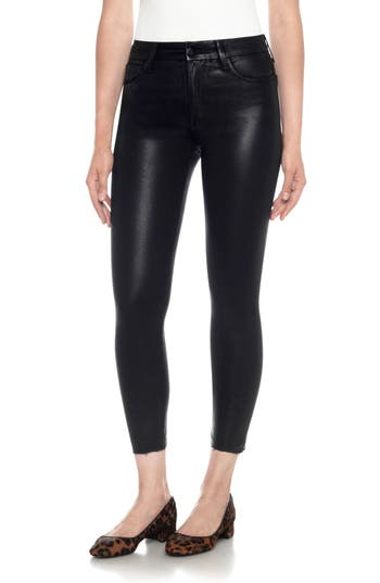 Joe's Charlie Coated High Waist Ankle Skinny Jeans