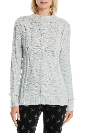 Rebecca Taylor Mock Neck Wool Pullover