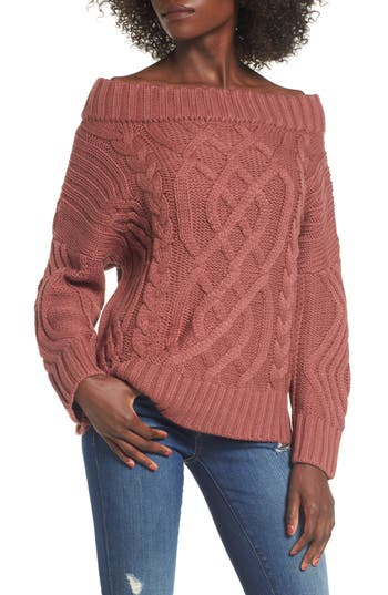 J.O.A. Off the Shoulder Sweater