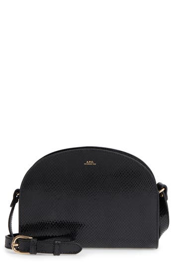 A.P.C. Half Moon Leather Crossbody Bag