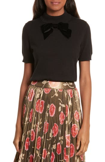 kate spade new york velvet bow sweater