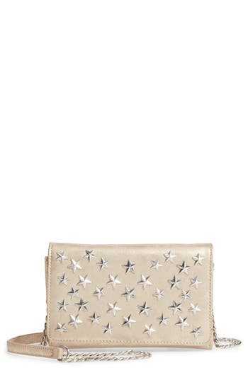 Chelsea28 Alexa Stars Faux Leather Wallet on a Chain