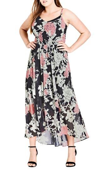 City Chic Bonsai Floral Maxi Dress (Plus Size)