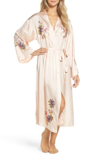 Chelsea28 Embroidered Long Robe