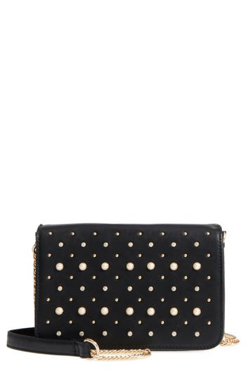 BP. Embellished Faux Leather C..