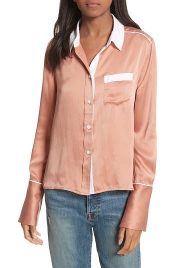 Huntley Contrast Silk Shirt