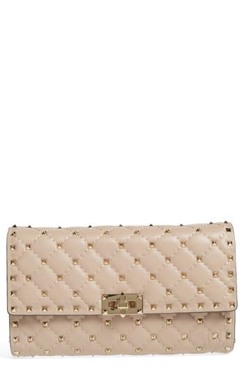 VALENTINO GARAVANI Rockstud Matelass? Quilted Leather Shoulder Bag