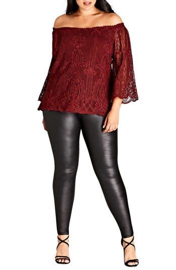 City Chic Regal Lace Top (Plus Size)