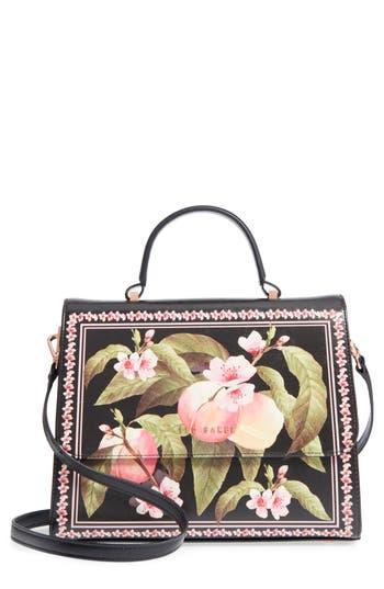 Ted Baker London Jarita Peach Blossom Faux Leather Top Handle Satchel