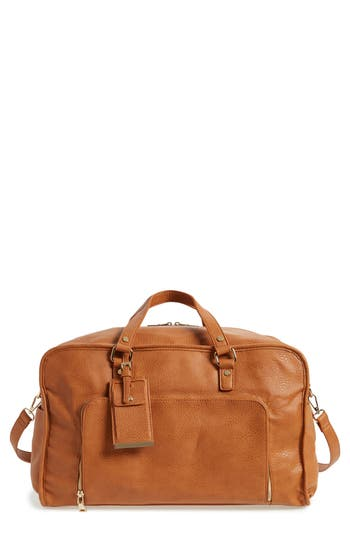 BP. Faux Leather Overnight Bag