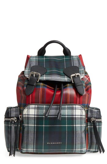 Tartan Patchwork Backpack by Burberry