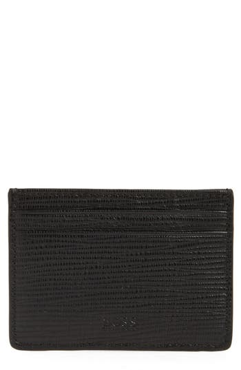 BOSS Timeless Leather Money Clip Card Case