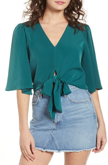 Tie Front Top by 4 Si3 Nna