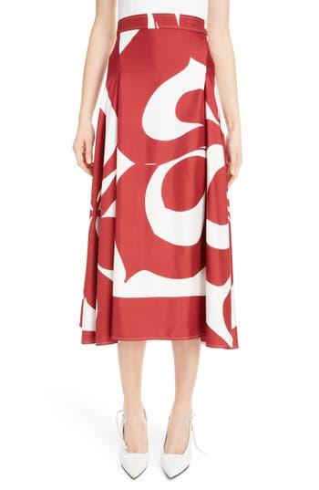 Pleated Silk Skirt by Victoria Beckham
