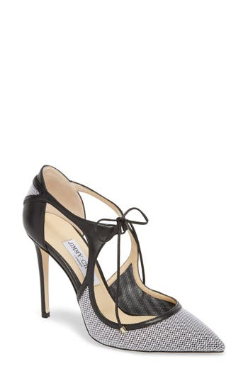Vanessa Tie Pointy Toe Pump by Jimmy Choo
