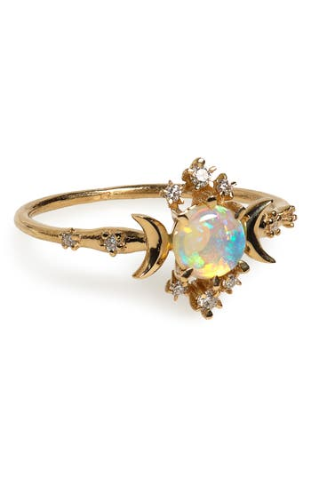 Wandering Star Opal Ring by Sofia Zakia