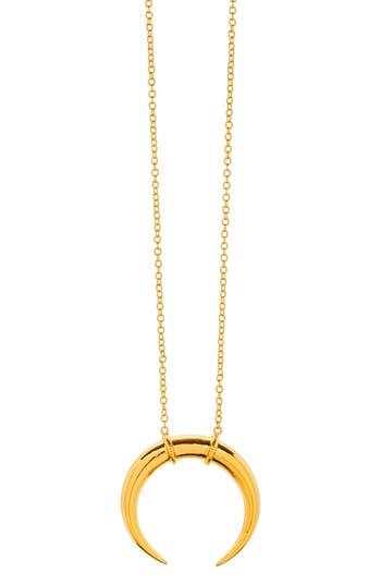 'cayne' Crescent Pendant Necklace by Gorjana