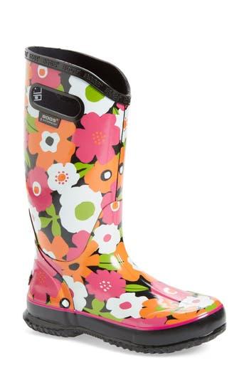 Bogs Spring Flowers Graphic Print Waterproof Rain Boot